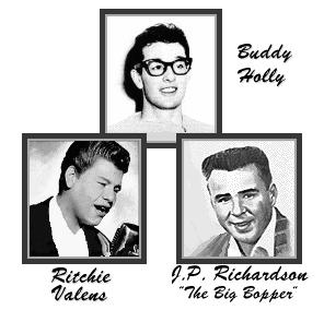 Buddy Holy, Ritchie Valens y The Big Bopper