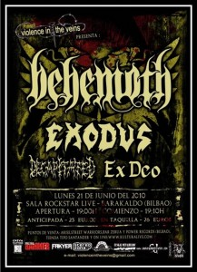 Behemoth + Exodus + Decapitated + Ex-Deo