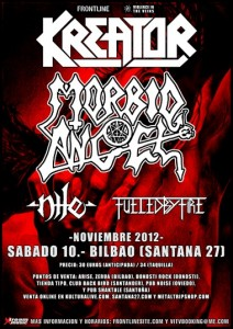 Kreator + Morbid Angel + Nile